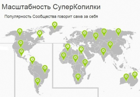 География проекта Суперкопилка